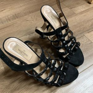Valentino Studded Studs Jewel Platform Heels 37